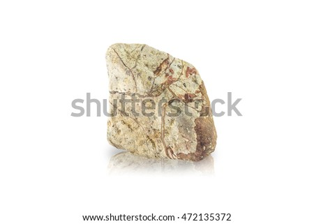 Rock stone isolated on white background this has clipping path.