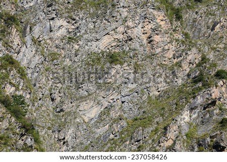 rock stratum - stock photo