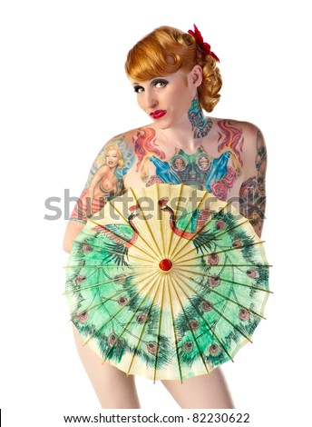 Rockabilly Pinup - stock photo