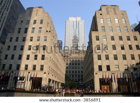 Rockefeller center in NYC - stock photo