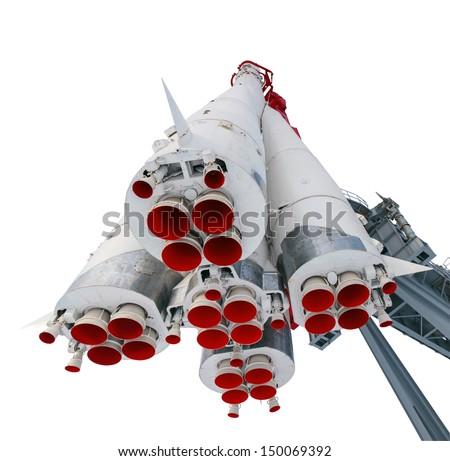 rocket engine isolated - stock photo