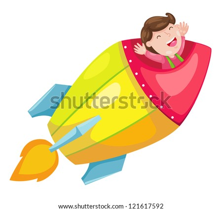 rocket.(EPS vector version id 119940655,format also available in my portfolio) - stock photo