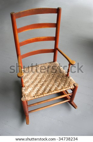 rocking chair antique shaker style rocker stock photo royalty free