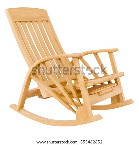 rocking chair isolate is on white background with clipping path - stock photo