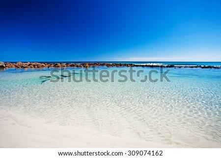 Rockpool at stokes bay, Kangaroo Island, South Australia - stock photo