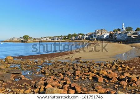 Rockport bay, Massachusetts, USA - stock photo