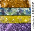 Rocks and minerals banners. - stock photo