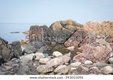 Rocks by the ocean