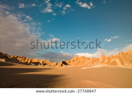 Rocks formations in death valley, Atacama desert, Chile - stock photo