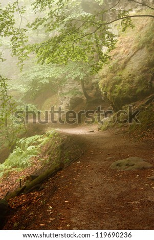 Rocks in Czech - stock photo