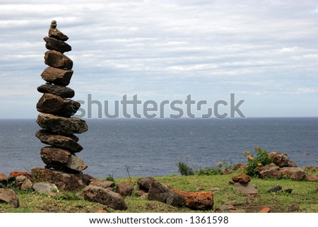 Rocks in Maui. - stock photo
