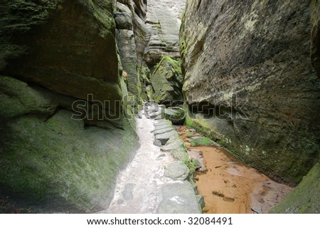 Rocks in the National park of Adrspach - stock photo