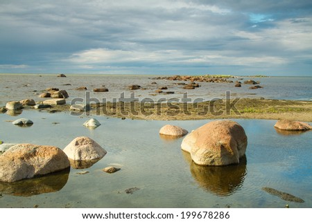 rocks into the sea. scenic spots in Europe