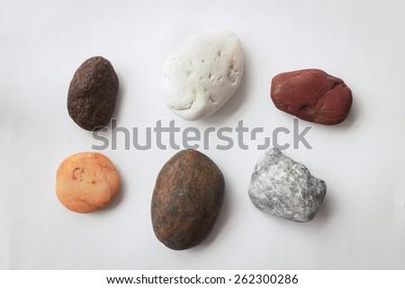 Rocks isolated on white background - stock photo