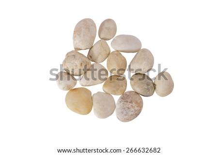 Rocks-marble isolated on white background. Accessories for the banner - stock photo