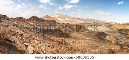 Rocks of Rub' al Khali, UAE - stock photo