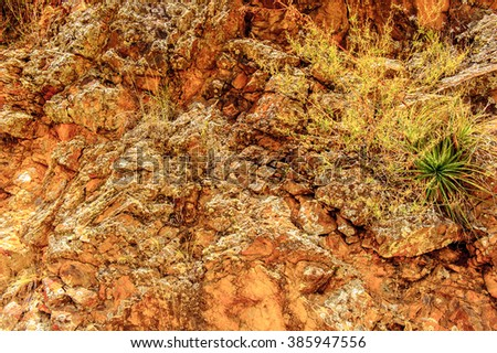 Rocks of the Andes of Peru - stock photo