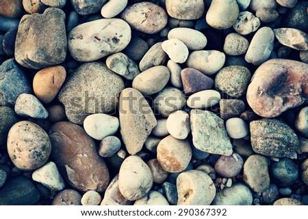 Rocks on the beach. Spa, nautical concept - stock photo