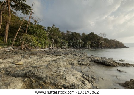 Rocky beach at Chidia Tapu, Andaman and Nicobar Islands