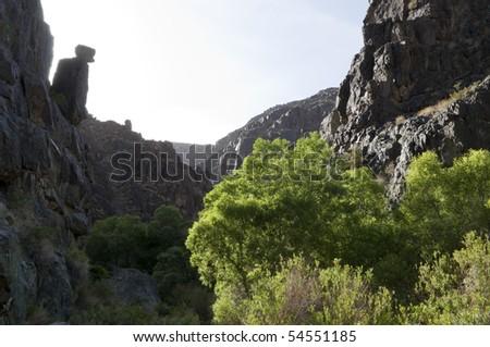Rocky Canyon in Darwin Falls, Death Valley California - stock photo