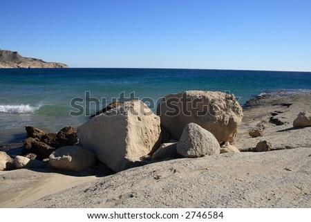Rocky Coast at Cabo de Gata, Spain - stock photo