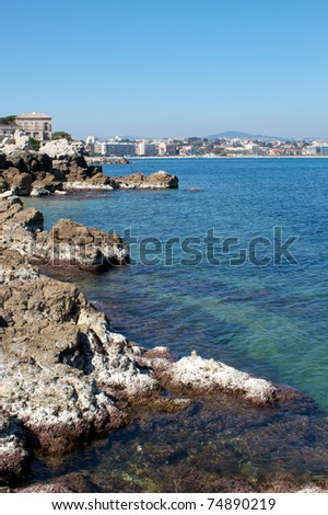 Rocky coastline of Antibes