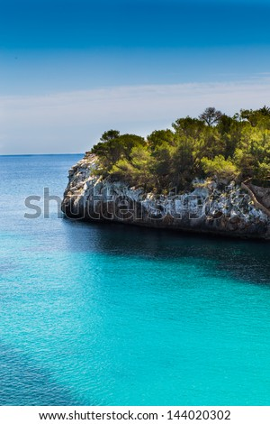 Rocky coastline of  Mallorca island, Spain