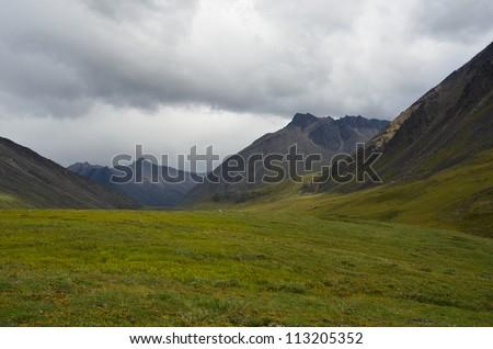 Rocky mountain landscape - stock photo