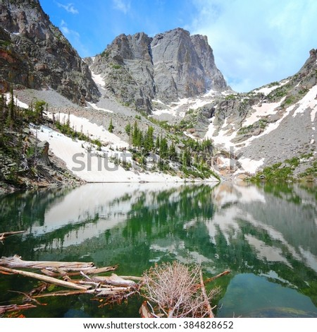 Rocky Mountain National Park in Colorado, USA. Emerald Lake view. - stock photo