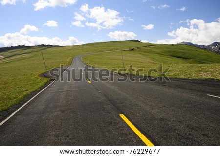 Rocky Mountain Road 1 - stock photo