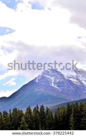 Rocky mountains at Banff national park Canada - stock photo