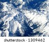 Rocky Mountains from the sky - stock photo