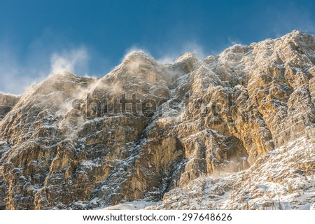 Rocky Mountains in Canmore, Alberta, Canada - stock photo