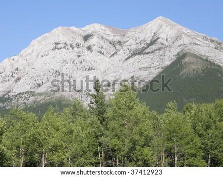 Rocky Mountains In Kananaskis In Alberta, Canada - stock photo