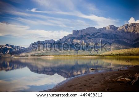 Rocky Mountains landscape - stock photo
