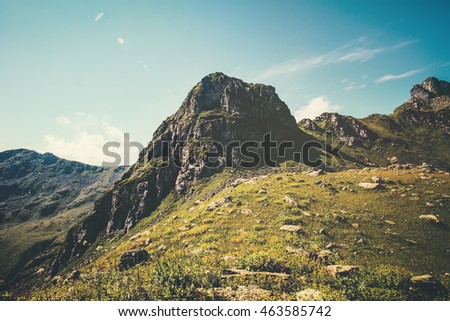 Rocky Mountains Landscape with blue sky Summer Travel serene scenic view