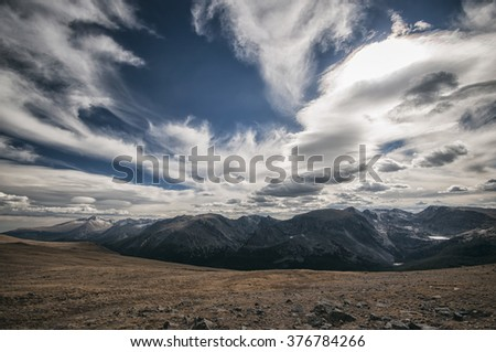 Rocky Mountains National Park Landscape, Colorado, USA - stock photo