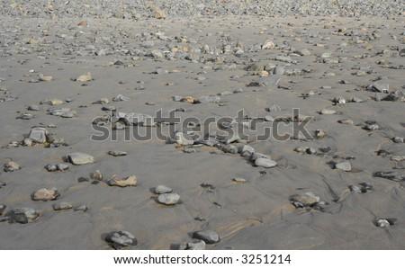 Rocky Pacific Coastline Background - stock photo