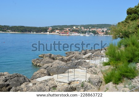 Rocky seaside  - stock photo