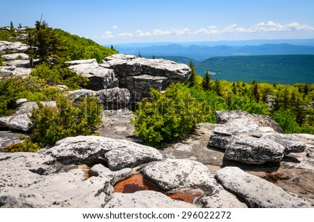 Rocky Summit of High Allegheny - stock photo