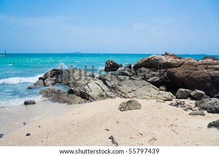 Rocky Surf - stock photo