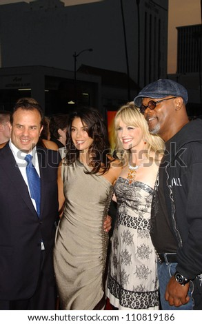 """Rod Lurie and Teri Hatcher with Kathryn Morris and Samuel L Jackson at the Los Angeles Premiere of """"Resurrecting The Champ"""". Samuel Goldwyn Theater, Beverly Hills, CA. 08-22-07 - stock photo"""