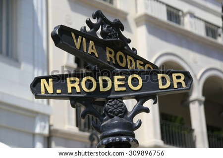 Rodeo Drive, Beverly Hills, California - stock photo