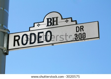 Rodeo Drive Sign - stock photo