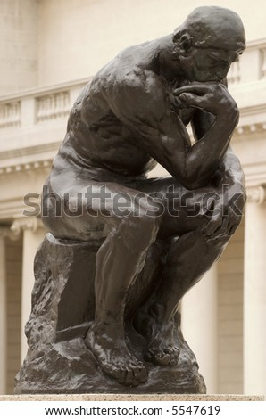 Rodin's thinker - stock photo