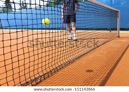 Roland Garros court type - stock photo