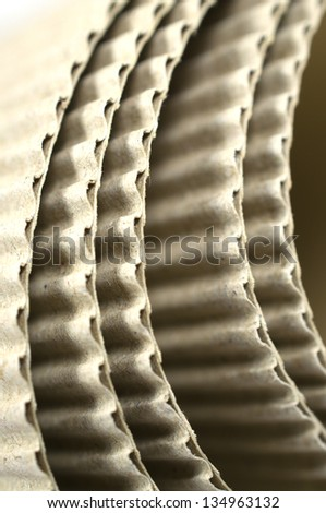 Role of corrugated card board - stock photo
