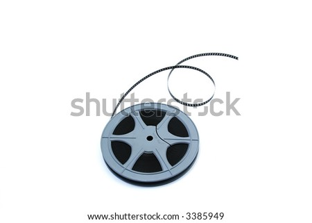 role of 88 mm film isolated on white background
