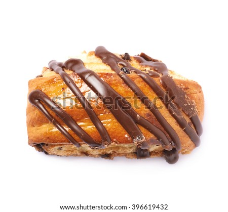 Roll bun pastry isolated