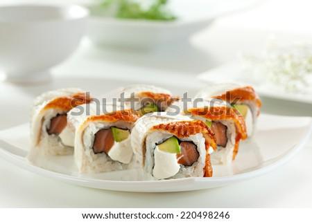 Gimbap Kimbap Korean Dish Made Steamed Stock Photo